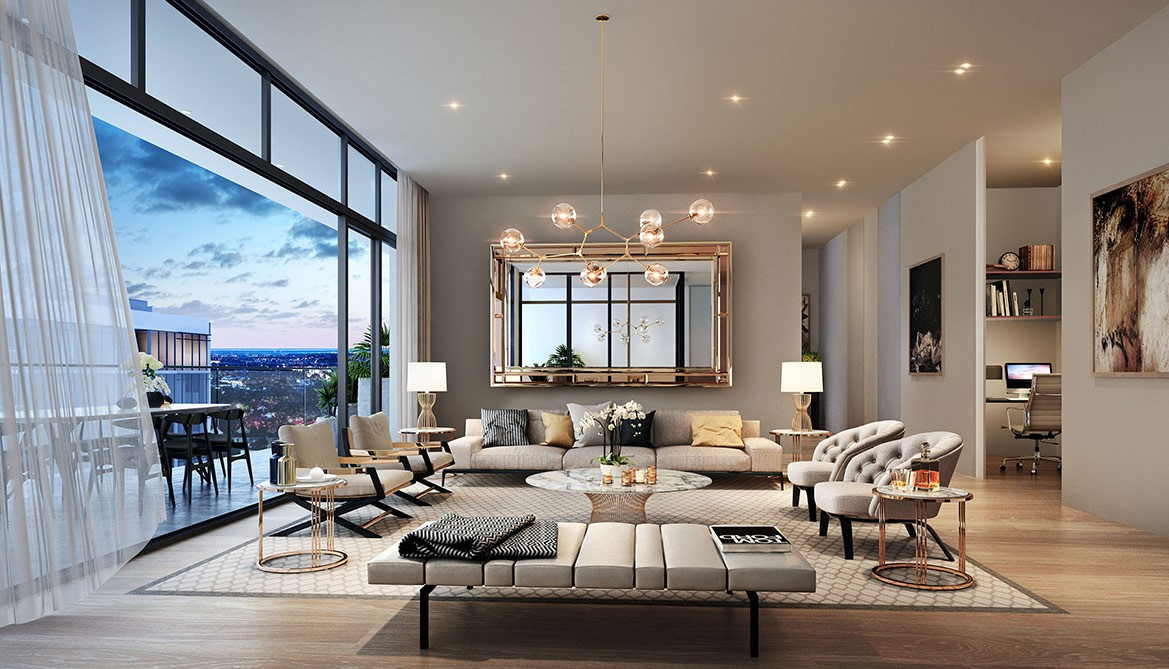 Apartment lounge and dinning area in gulberg heights