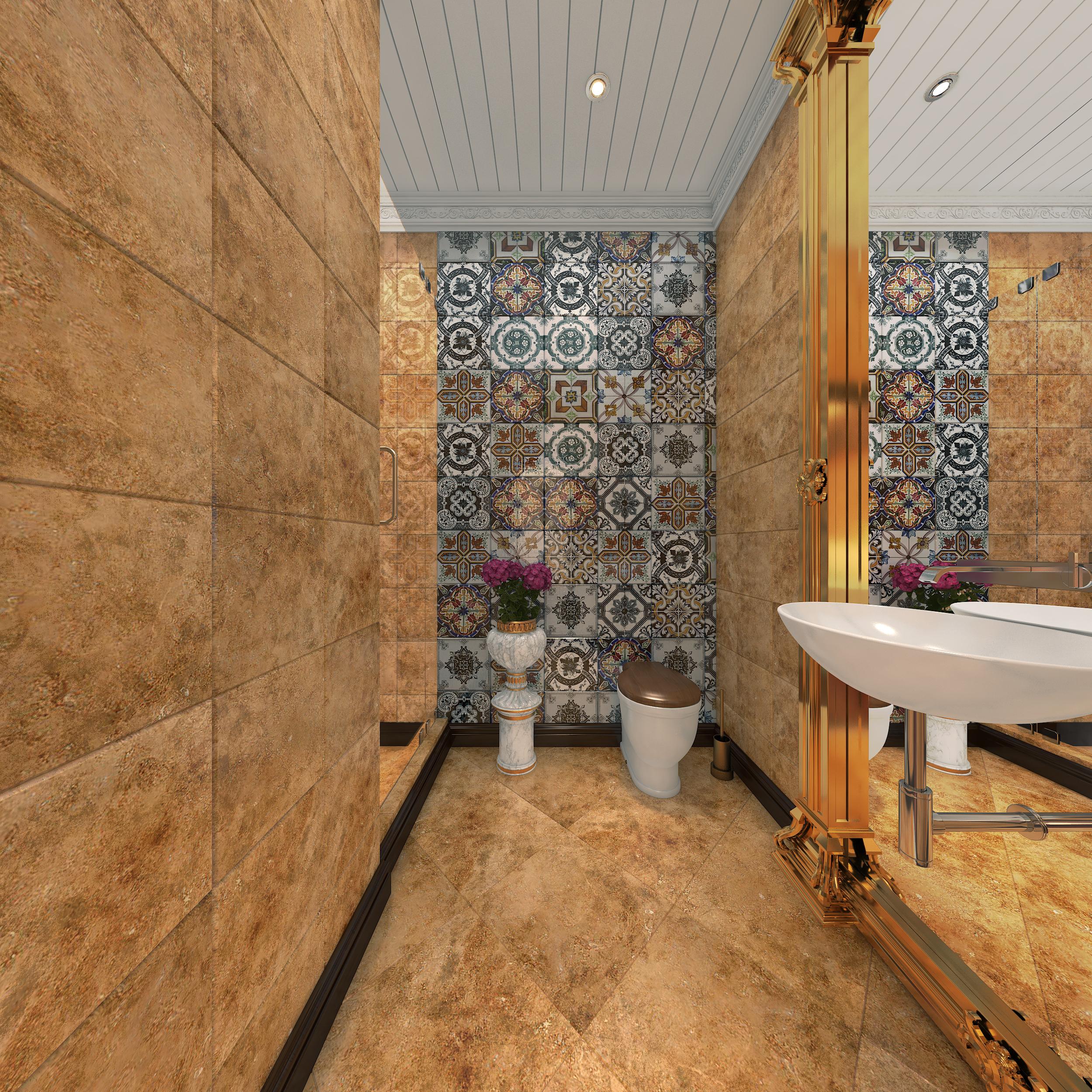 Modern design washroom in gulberg heights apartment