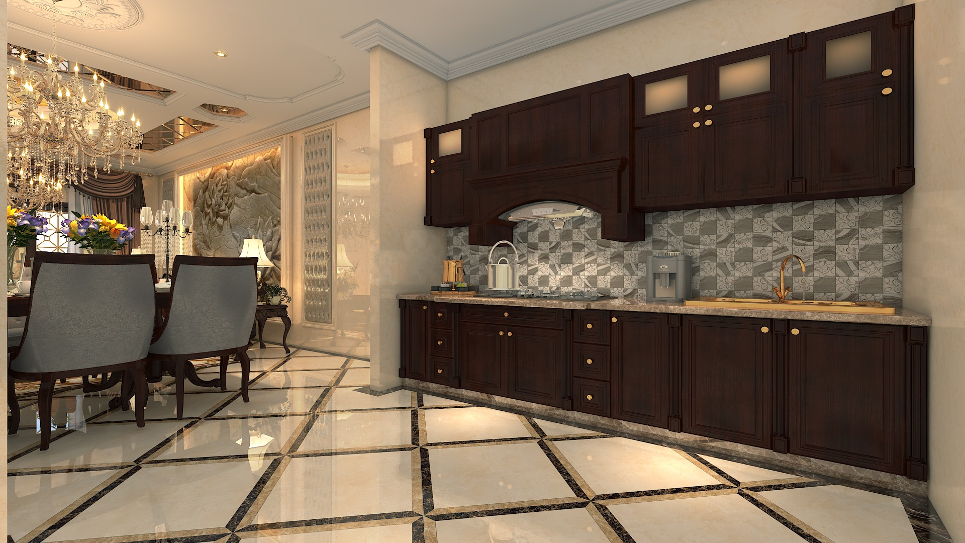 Apartment kitchen are dinning area in gulberg heights