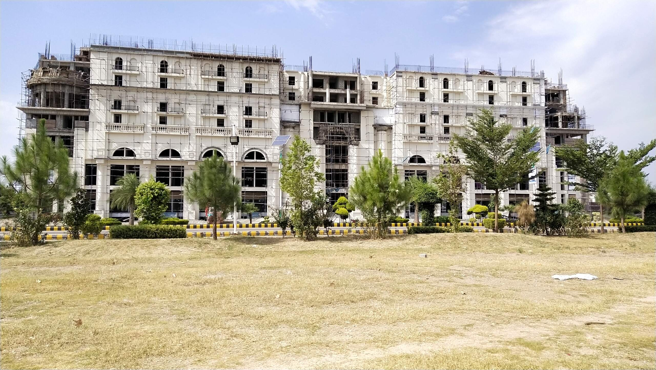 current construction status of gulberg heights .80% of construction is almost completed
